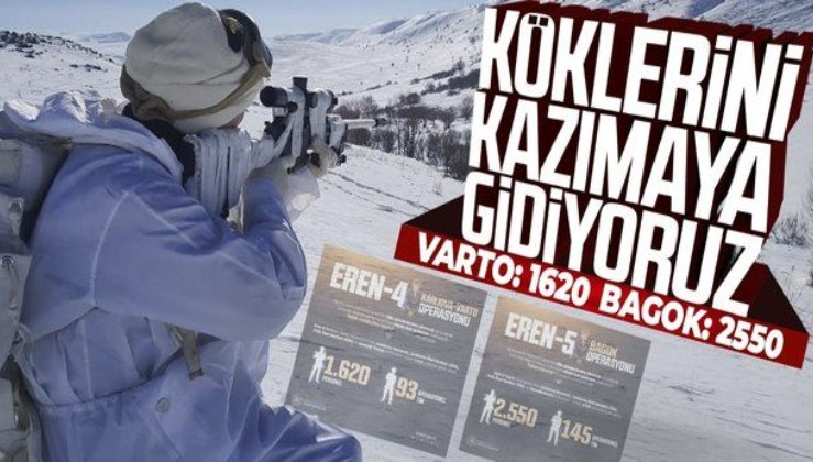 """Son dakika: """"Eren-4 Karlıova-Varto"""" ve """"Eren-5 Bagok"""" operasyonları başladı! Teröristlerin inlerine girilecek"""
