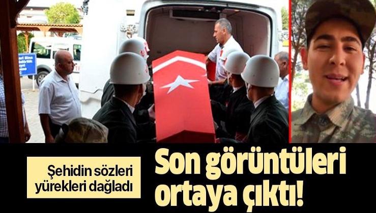 Şehit asker Yunus Mermer'in ailesine yolladığı video yürekleri dağladı.