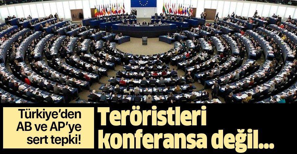 """Son dakika: Adalet Bakanlığı'ndan AB ve AP'ye sert tepki: """"Teröristleri konferansa değil...""""."""
