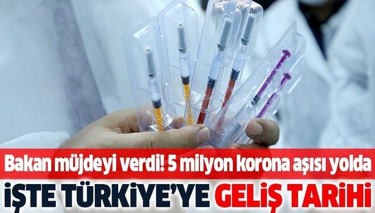 Sağlık Bakanı Fahrettin Koca'dan koronavirüs aşısı müjdesi! 5 milyon doz aşı aralıkta Türkiye'de