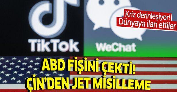 ABD'nin TikTok ve WeChat hamlesine Çin'den jet misilleme