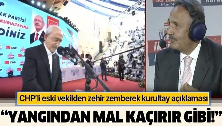 CHP eski milletvekili Mehmet Sevigen: Yangından mal kaçırır gibi bir CHP kurultayı yapılıyor
