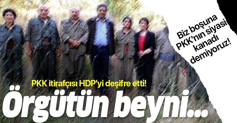 PKK itirafçısı HDP'yi deşifre etti! Örgüt onların değil, onlar örgütün beyni...