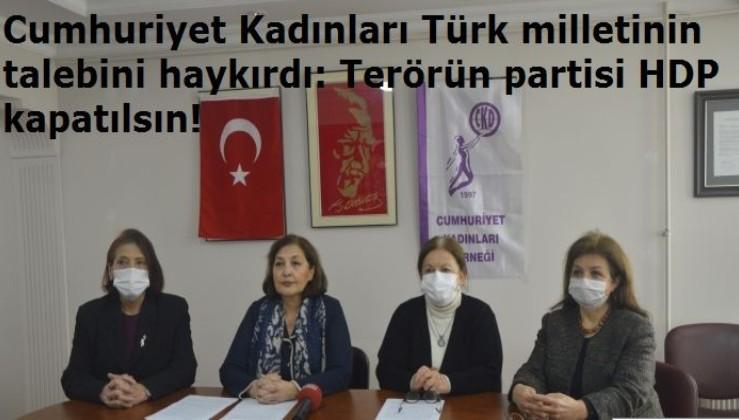 """CKD Genel Başkanı Prof. Dr. Tülin Oygür: """"Milletimizin talebini yerine getirin. Terörün partisi HDP'yi kapatın!"""""""