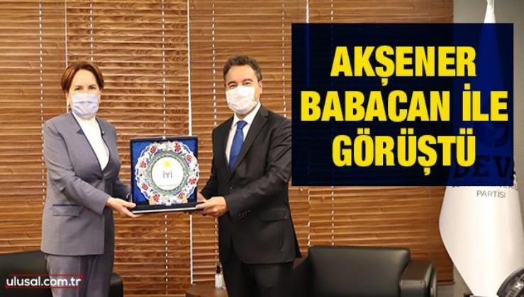 Akşener, Babacan ile görüştü