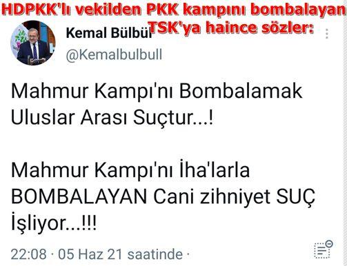 HDPKK'lı vekilden PKK kampını bombalayan TSK'ya haince sözler: CANİ ZİHNİYET SUÇ İŞLİYOR