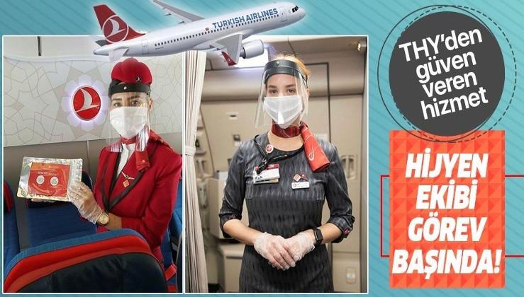 THY uçaklarında hijyen ekibi görev yapmaya başladı!