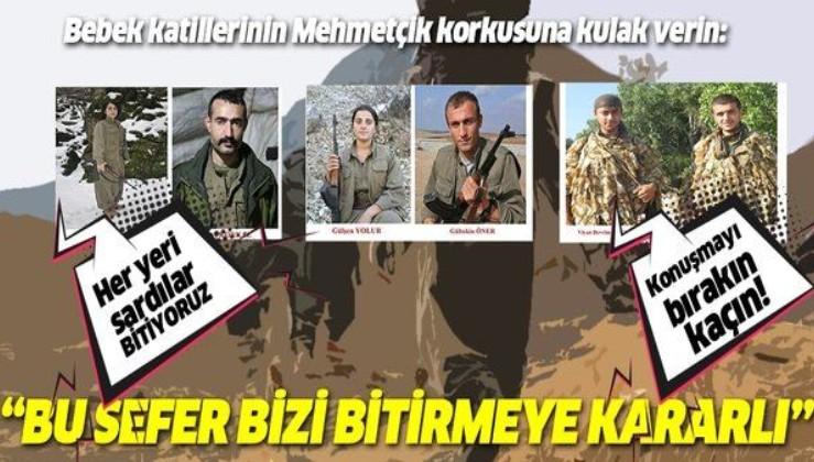 """PKK'nın Haftanin hezimeti telsiz konuşmalarında: """"Asker bu defa bizi bitirmeye kararlı"""""""