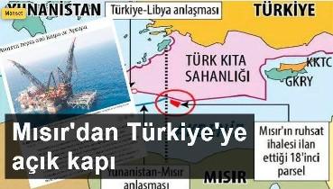 Yunanistan tedirgin: Mısır'dan Türkiye'ye açık kapı