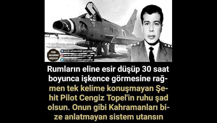 Şehit Pilot Yüzbaşı Cengiz Topel: Ben, Yüzbaşı Cengiz. Savaş pilotu.