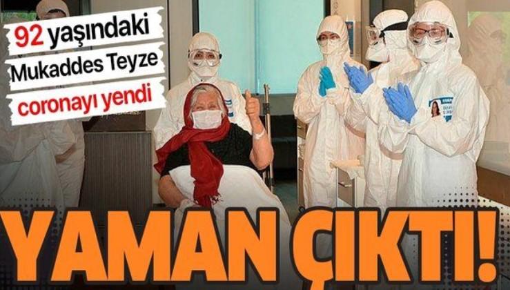İzmir'de 92 yaşındaki Mukaddes Adıyaman Coronavirüs'ü yendi