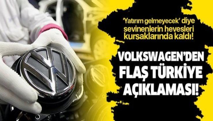 Volkswagen'den flaş Türkiye açıklaması!.