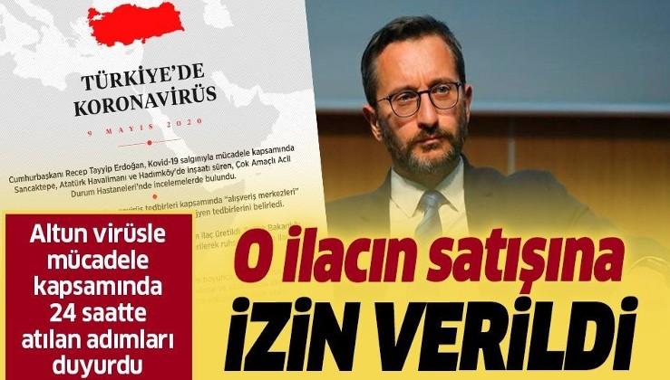 İletişim Başkanı Altun koronavirüsle mücadele kapsamında 9 Mayıs'ta atılan adımları duyurdu