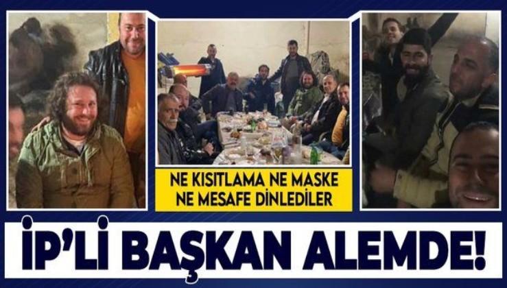 İYİ Partili Aytekin Kaya'dan kısıtlamada maskesiz sosyal mesafesiz kutlama!
