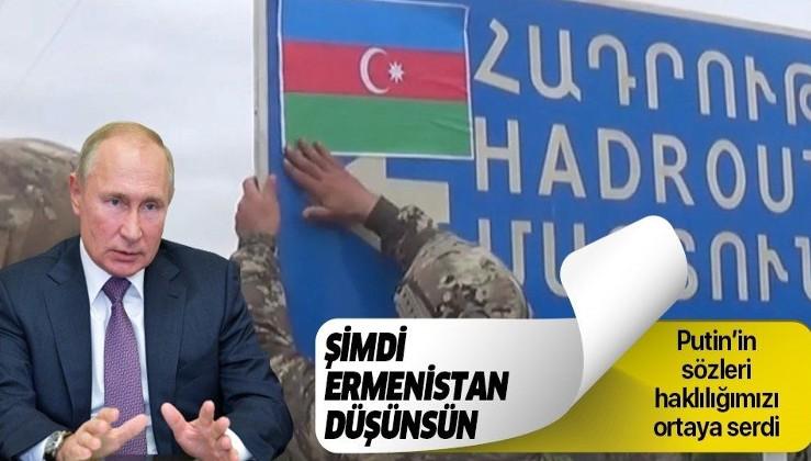 """Putin'den tarihi sözler: """"Çatışmalar Ermenistan toprağında yapılmıyor"""" Anlamı: Karabağ Ermenistan'ın değildir!"""