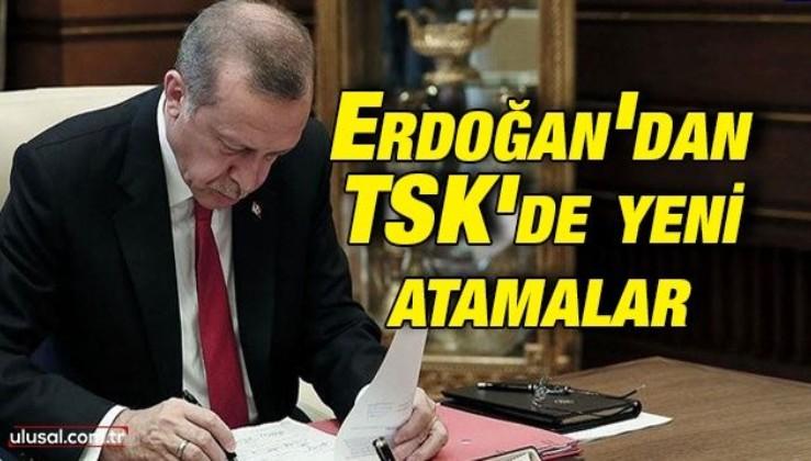 Cumhurbaşkanı Erdoğan'dan Türk Silahlı Kuvvetlerinde yeni atamalar