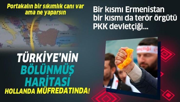 Hollanda'da Türkiye'nin bölünmüş haritası okullarda öğretiliyor! Bir kısmı Ermenistan bir kısmı da terör örgütü PKK devletçiği...