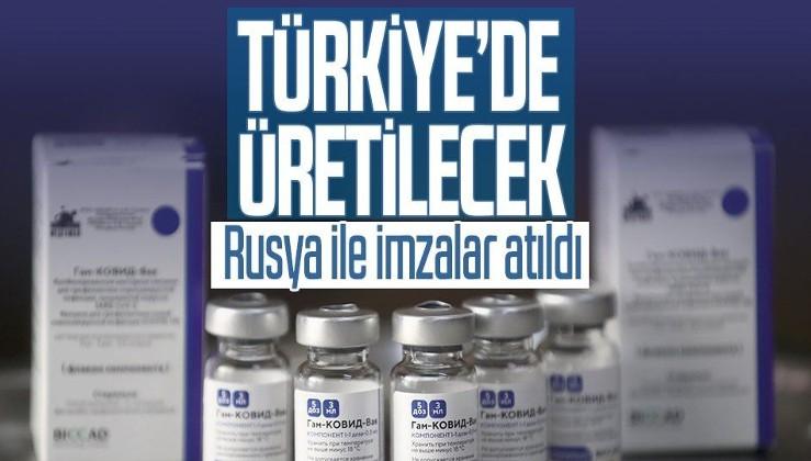 Rusya açıkladı: Sputnik-V aşısının Türkiye'de üretimi için imzalar atıldı