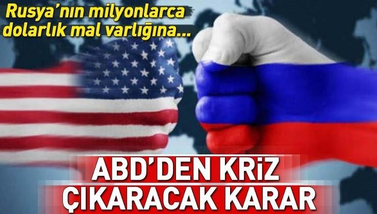 Rusya'nın ABD'de bulunan yüz milyonlarca dolarlık mal varlığı bloke edildi.
