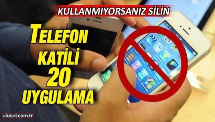 Telefona en çok zarar veren uygulamalar