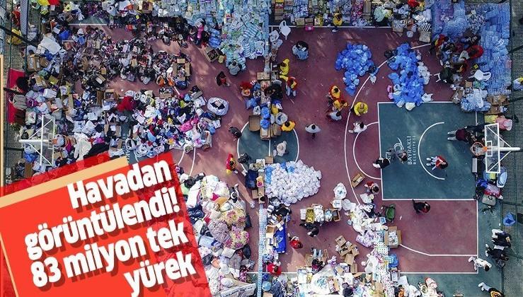 Türkiye İzmir depremi sonrası tek yürek oldu! İzmir'e gelen yardımlar sahaları doldurdu