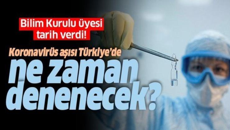 Koronavirüs aşısı Türkiye'de ne zaman denenecek? Bilim Kurulu üyesi tarih verdi