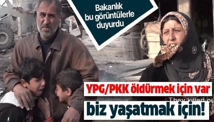 MSB paylaştı: PKK/YPG öldürmek için var, biz yaşatmak için .