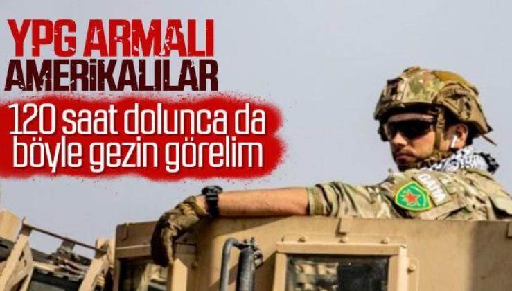 Amerikan askerleri YPG arması taktı