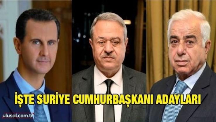 İşte Suriye Cumhurbaşkanı adayları