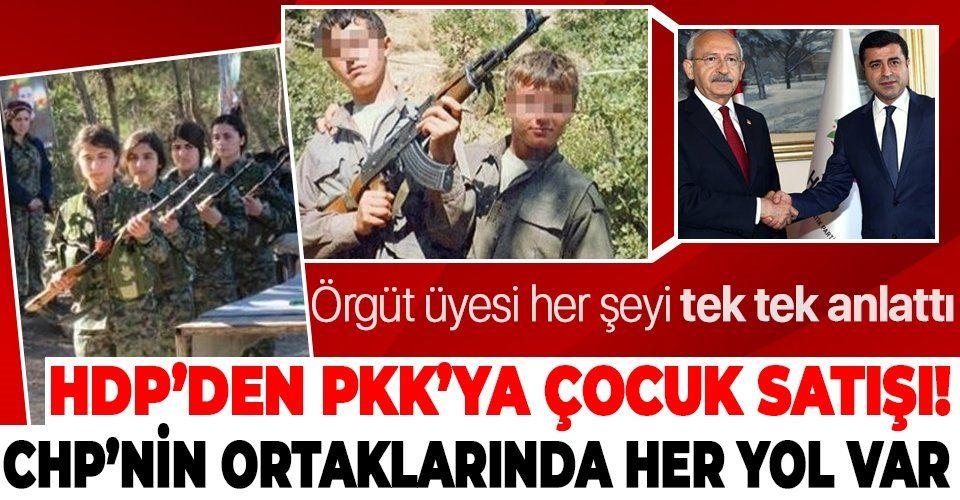 Son dakika: HDP-PKK arasında 3 bin TL'ye çocuk alışverişi yapıldığı ortaya çıktı!