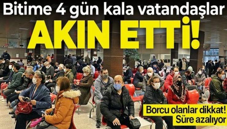 Borcu olanlar dikkat! 31 Aralık'ta sona eriyor! Vatandaşlar akın etti | e-Devlet borç yapılandırma nasıl yapılır?