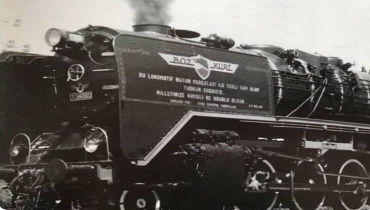 """Türkiye'nin ilk yerli lokomotifi """"Bozkurt."""""""