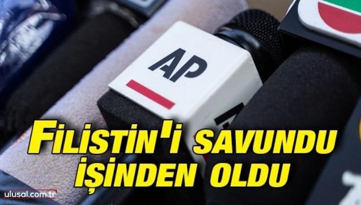 Associated Press Filistin'i savunan muhabiri kovdu
