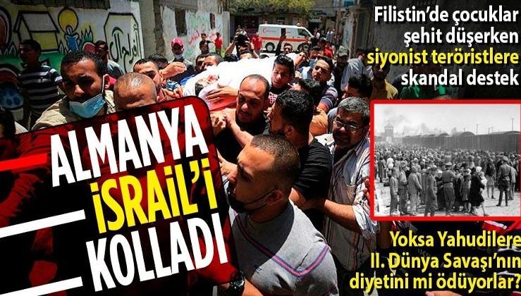 """Filistin'de çocuklar şehit düşerken Almanya, siyonist teröristleri kolluyor: """"İsrail kendini savunma hakkına sahiptir"""""""