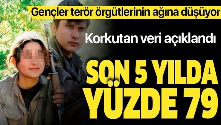 Korkutan veri açıklandı! Son 5 yılda terör örgütlerinin ağına düşen gençlerin oranı yüzde 79.