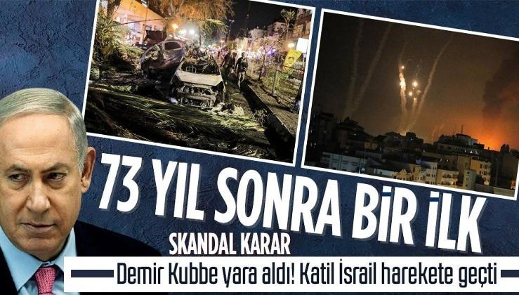Dünya Gazze'ye kilitlendi! 73 yıl sonra bir ilk! Demir Kubbe yara aldı katil İsrail harekete geçti! Skandal karar