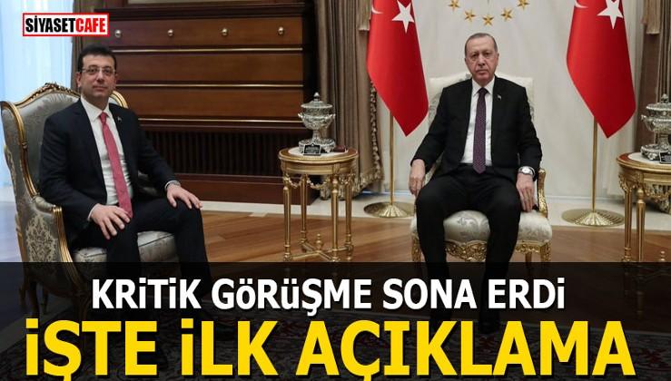 Erdoğan-İmamoğlu görüşmesi sona erdi! İşte ilk açıklama