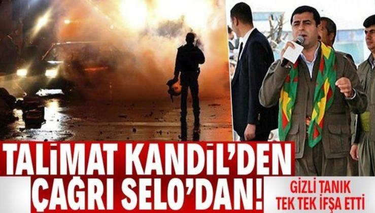 Kobani iddianamesinde gizli tanık Selahattin Demirtaş'ın terör çağrısını ifşa etti
