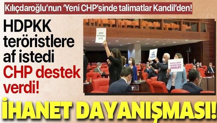 """Son dakika: HDP ve CHP'den Meclis'te """"ihanet"""" dayanışması! Teröristlere af istediler"""