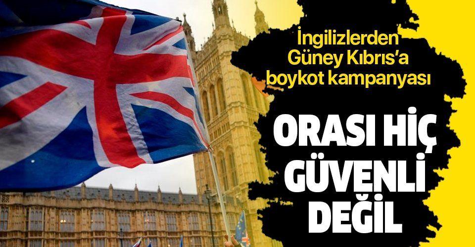 İngiltere'de tecavüz davası nedeniyle Güney Kıbrıs'ı boykot kampanyası.