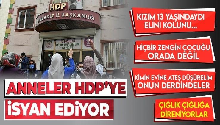 Anneler çığlıklarla isyan ediyor: Benim oğlumu HDP aldı PKK'ya verdi