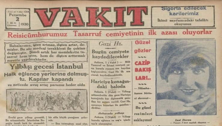 Atatürk'ün, Millî İktisat ve Tasarruf Cemiyeti'ne ilk üye olarak kaydedilmesi.