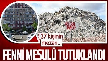 İzmir depreminde 37 vatandaşa mezar olan Rıza Bey Apartmanı'nın fenni mesulü tutuklandı