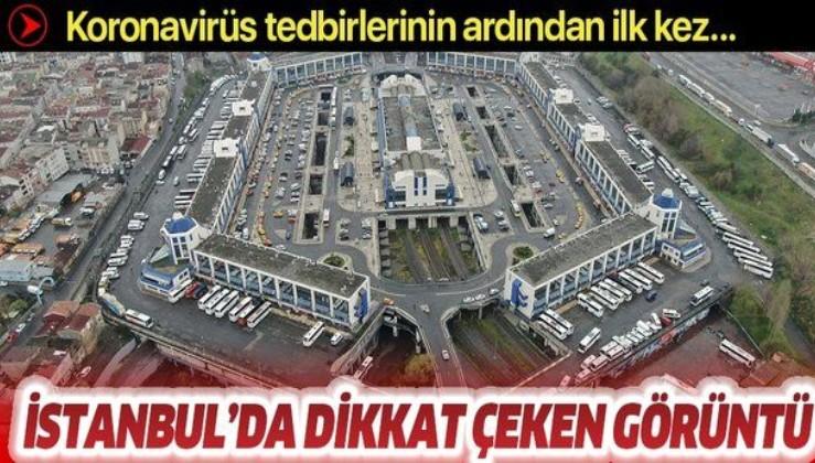 Son dakika: İstanbul otogarlarında koronavirüs sessizliği! Havadan görüntülendi.