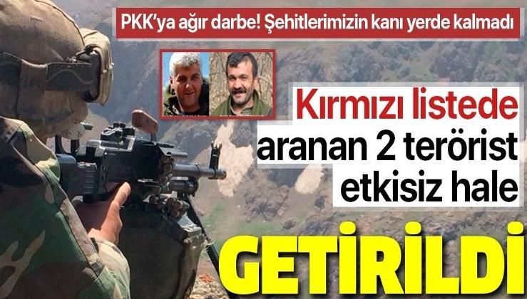 Terör örgütü PKK'ya büyük darbe! Kırmızı listedeki 2 terörist öldürüldü.