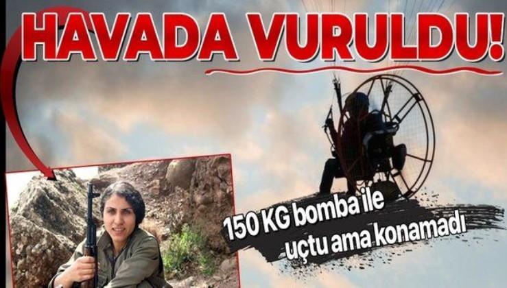 150 kilo bomba taşıyan paramotorlu kadın terörist havada vuruldu!