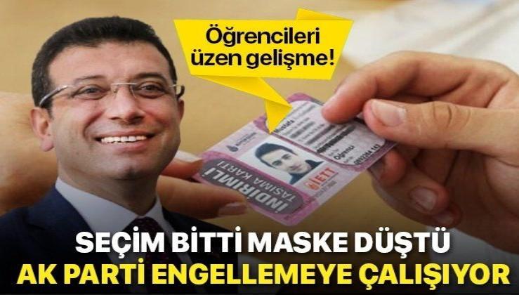 İBB yönetimi öğrencilerin indirimli kartlarını iptal etmek için hamle yaptı!