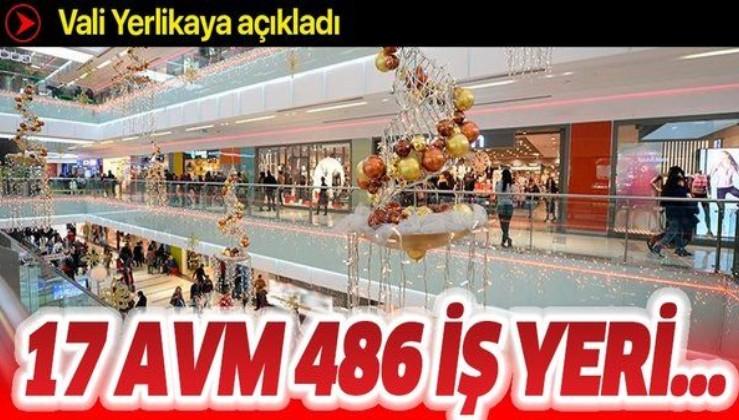 İstanbul Valisi Ali Yerlikaya açıkladı! 17 AVM'de 486 iş yeri denetlendi