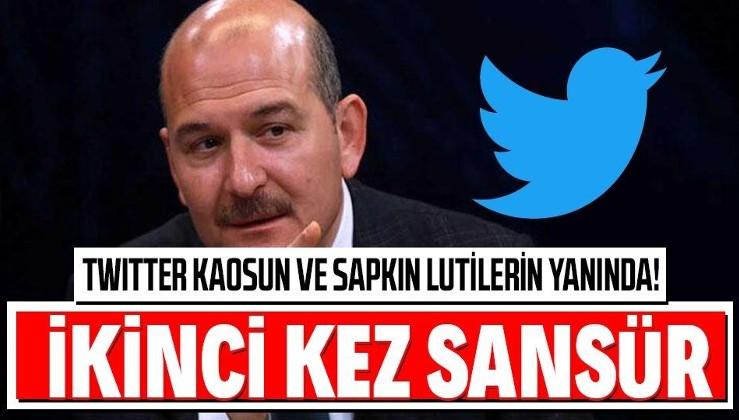 Twitter, İçişleri Bakanı Süleyman Soylu'nun sapkın Lutilere (LGBTİ) karşı tweetine ikinci kez sansür uyguladı