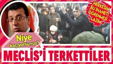 Ekrem İmamoğlu'nun Fazilet durağı yalanından rahatsız olan CHP ve İYİ Parti'liler İBB Meclisi'ni terk etti!